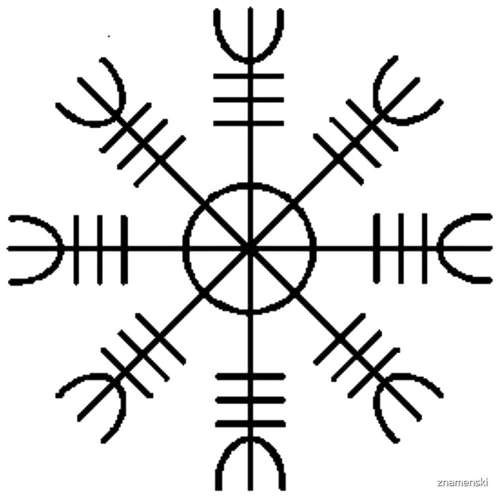Helm of Awe, Text, Line, Font, cross, illustration, art, christmas, decoration, design, vector, symbol, abstract by znamenski