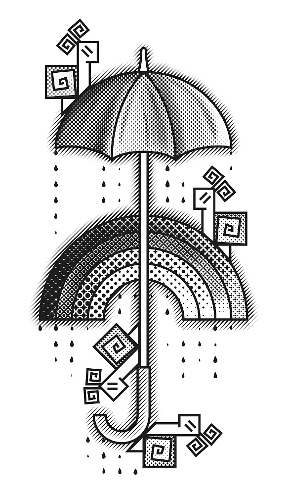 Under the rain - Monochrome by Sunflow