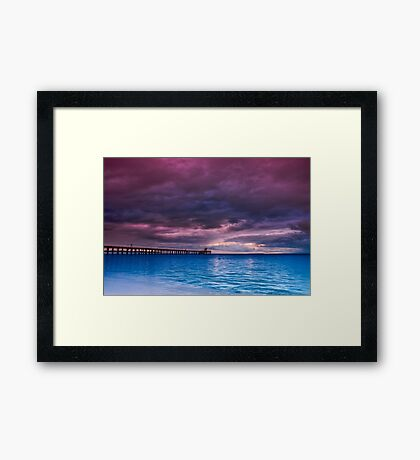 Stormy Morning at Point Lonsdale Pier Framed Print