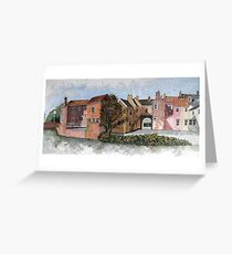 """""""Old Canal Route Into Highbridge, Somerset"""" Greeting Card"""