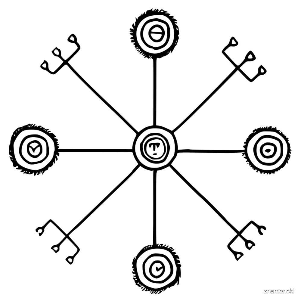 Veiðistafur -For luck in fishing. Icelandic rune veidistafur by znamenski