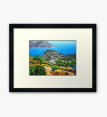 Over to the main land Framed Print