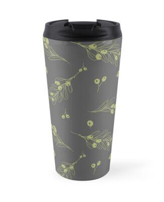 Olive dark seamless pattern by julkapulka