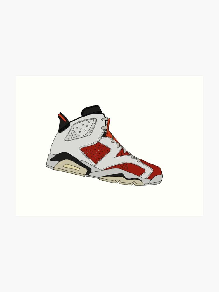 detailing 8ffdd 4b2cb Jordan 6 Retro - Gatorade Like Mike | Art Print