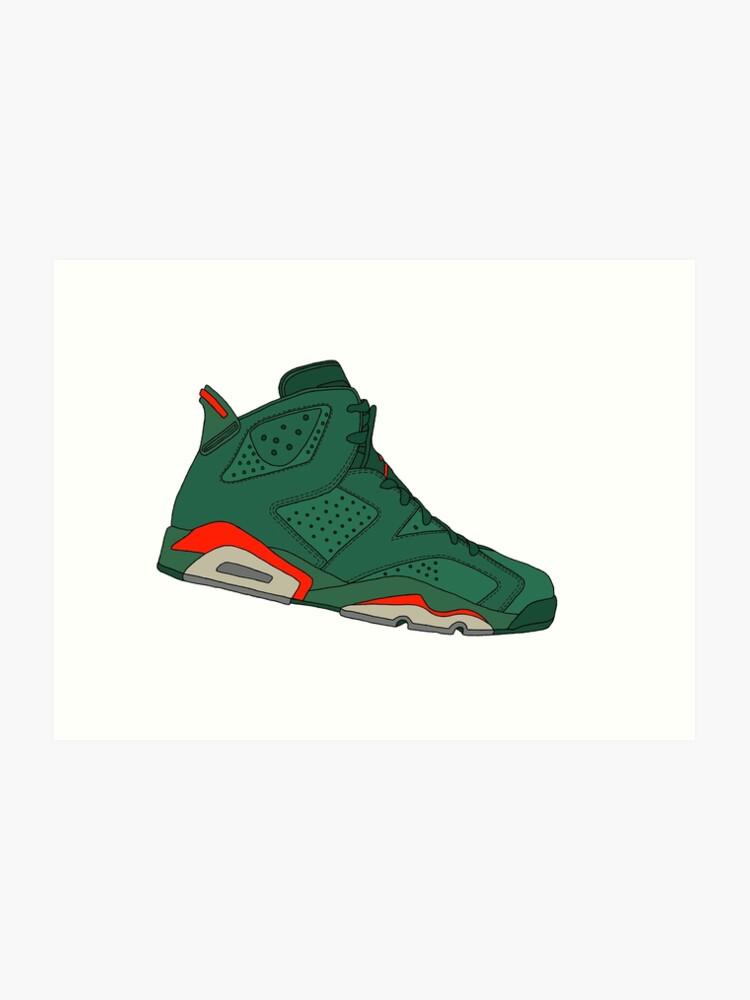 premium selection 89bc7 78d4f Jordan 6 Retro - Gatorade Green   Art Print