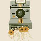 vintage spring polaroid camera by bananina