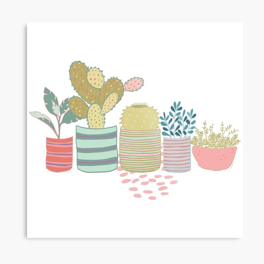 Cactus Toss Metal Print