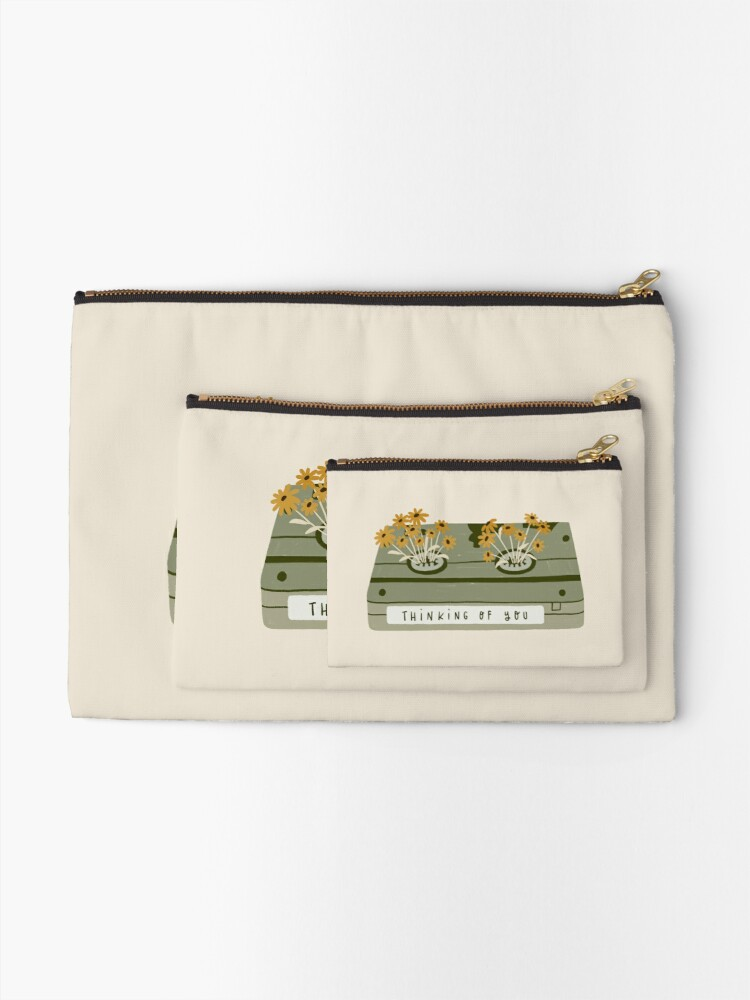 Alternate view of vintage spring video cassette Zipper Pouch