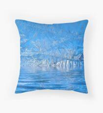 Frost Flood Throw Pillow