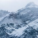 Mountains snow and fog by Patrik Lovrin