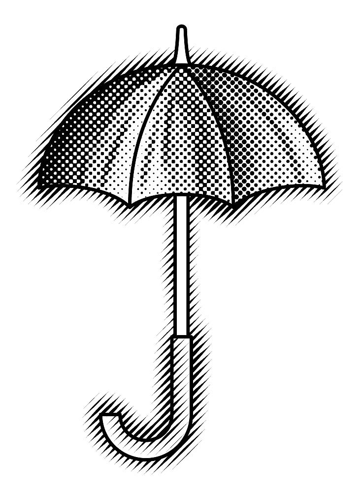 Umbrella Black by Sunflow