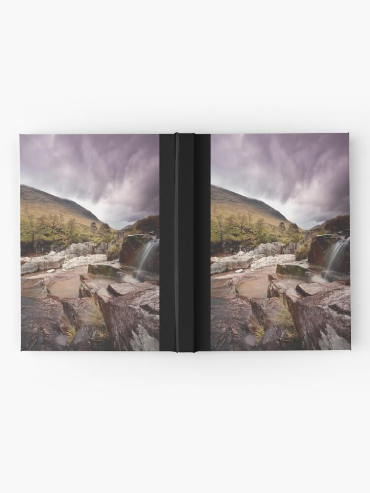 Alternate view of Glen Etive waterfall Hardcover Journal