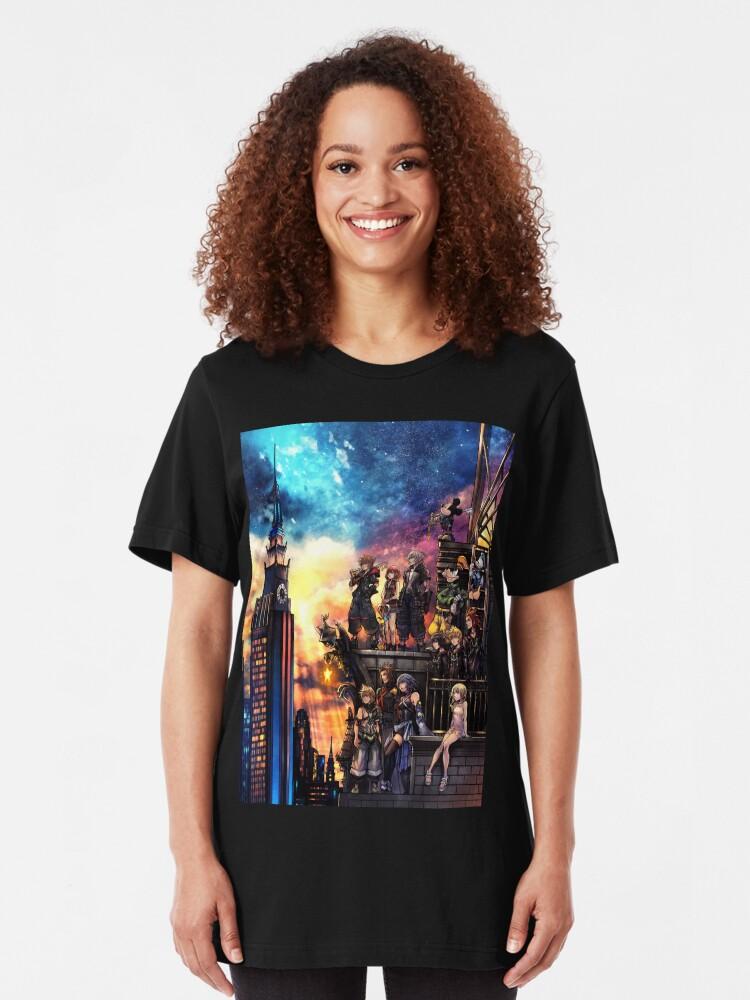 Vista alternativa de Camiseta ajustada Portada de Kingdom Hearts 3