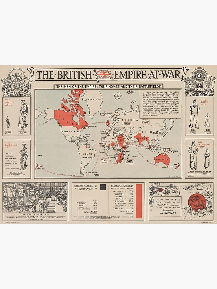 Vintage British Empire World Map (1916) by BravuraMedia