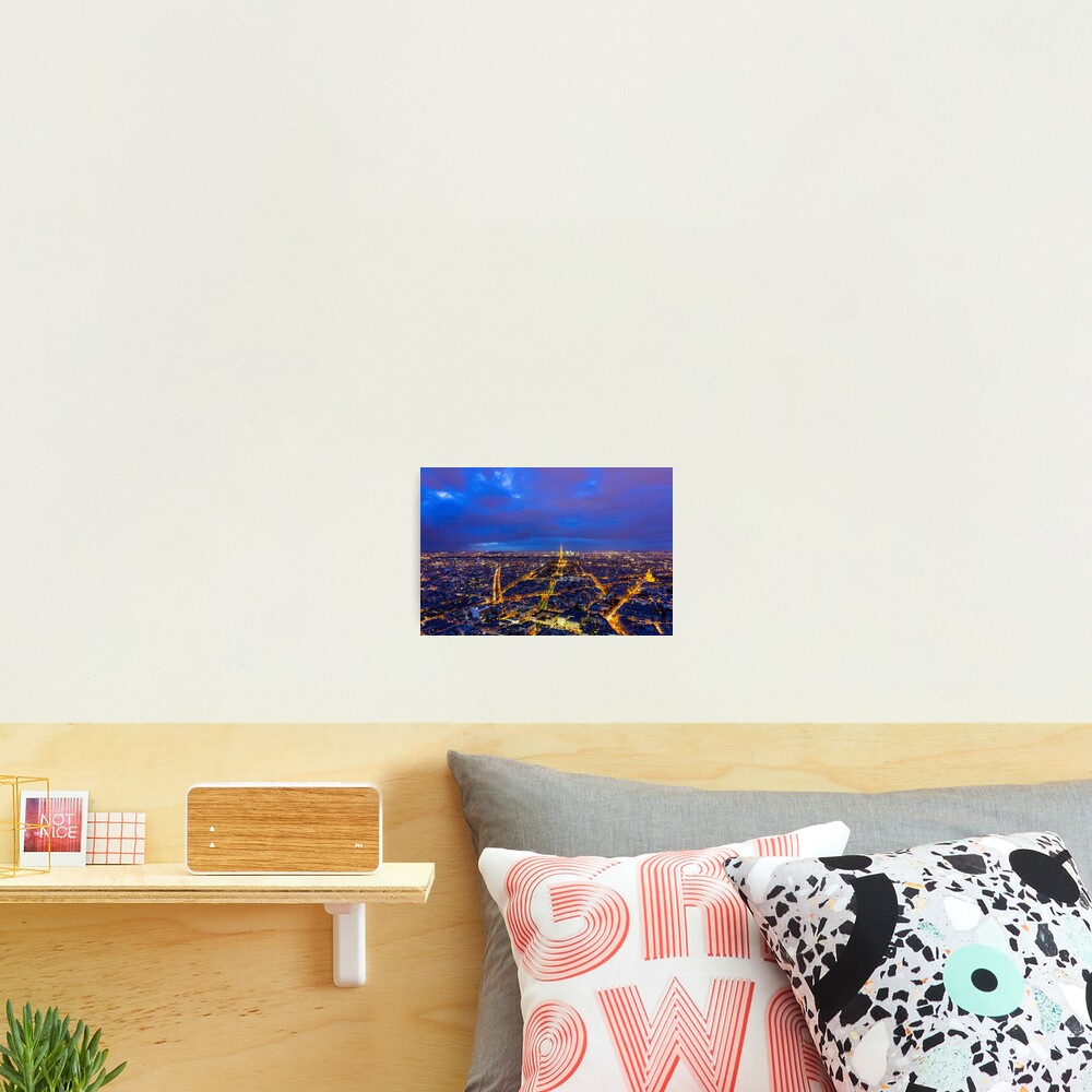 Paris Skyline at Night Photographic Print