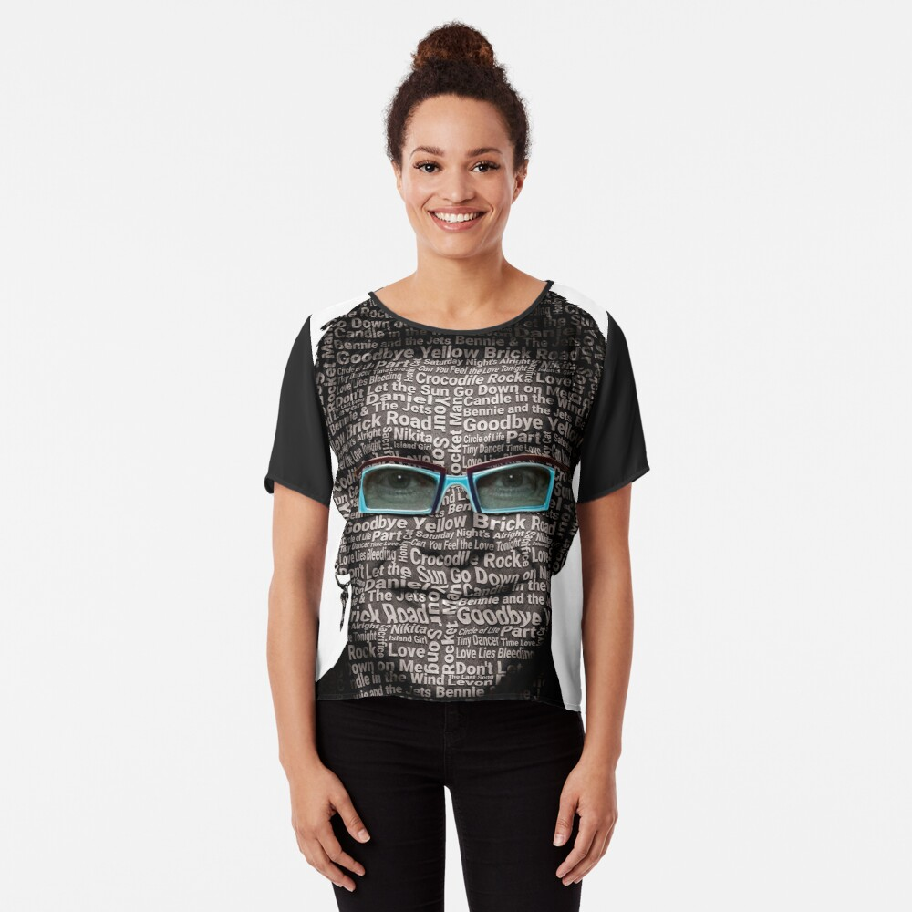 ★ Rocket Man Art Women's Chiffon Top Front