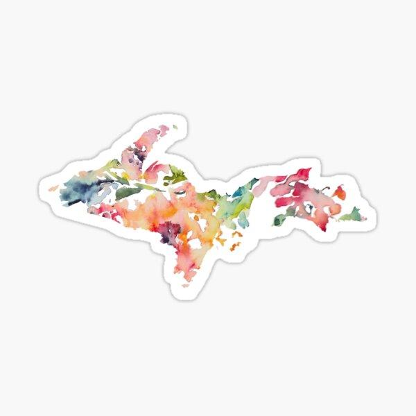 Floral Upper Peninsula  Sticker