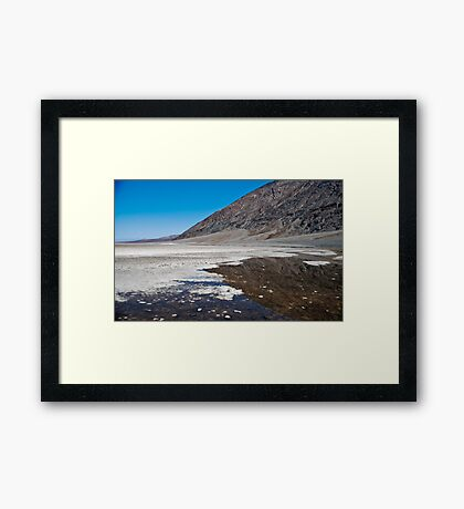 Badwater Reflections Framed Print