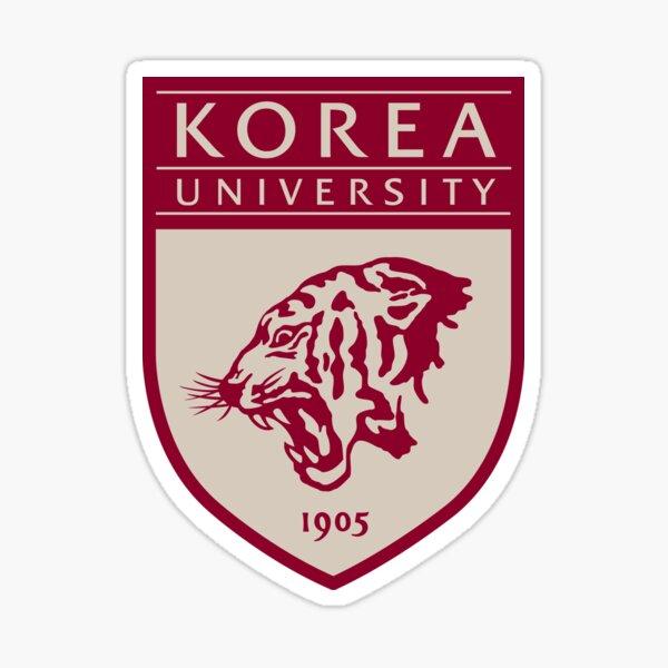 Logotipo de la Universidad de Corea (Coreano / Hangul / Kpop) Pegatina