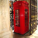 Fancy Phone Booth by Christine  Wilson