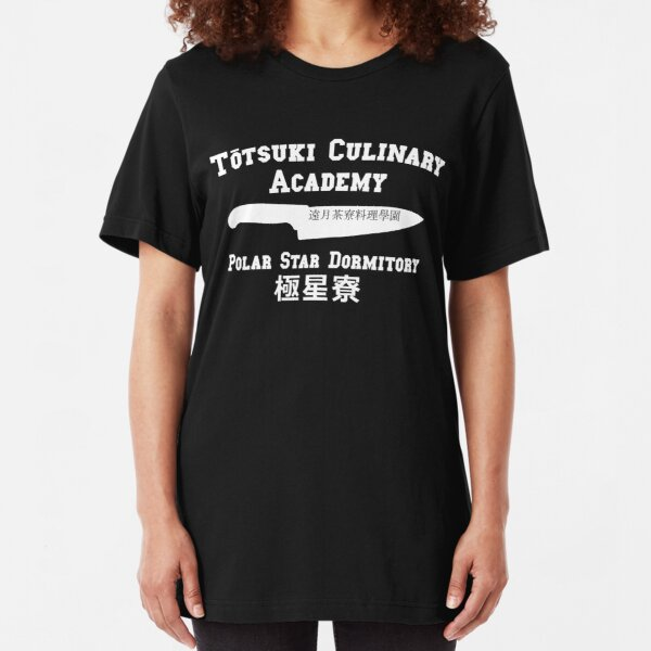 Totsuki Culinary Academy - Polar Star Dormitory - White Slim Fit T-Shirt