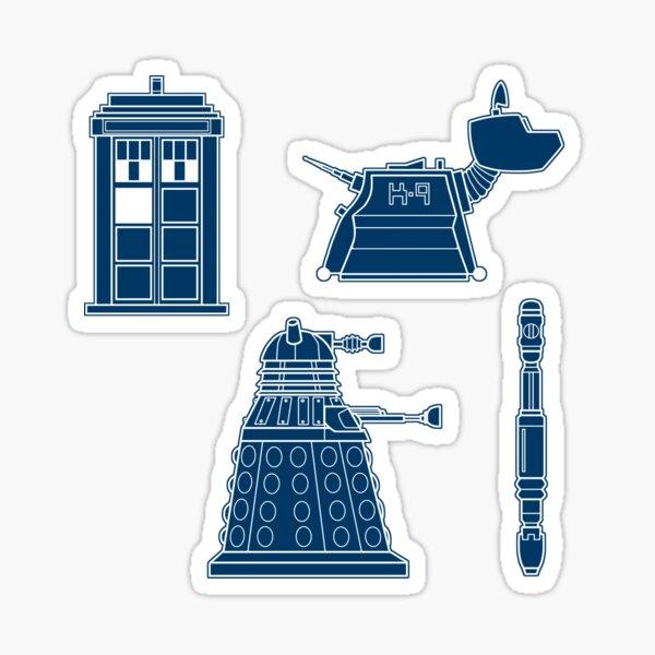 Doctor Who Pattern Sticker