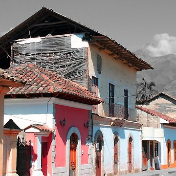 Selective Color Houses in a Mountain Town by rhamm