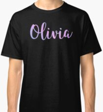Olivia - Cute Girl Names For Wife Daughter Pastel Goth Sparkle designed by @risottoart, check out my shop! Classic T-Shirt