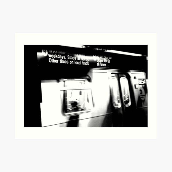 N Train Art Print