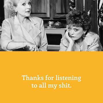 Golden Girls Card - Thank you by gregs-celeb-art