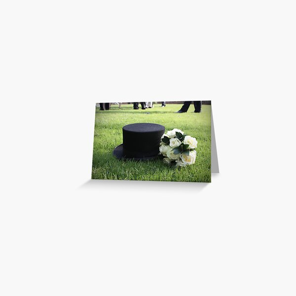 Topper and Bouquet - Green Greeting Card