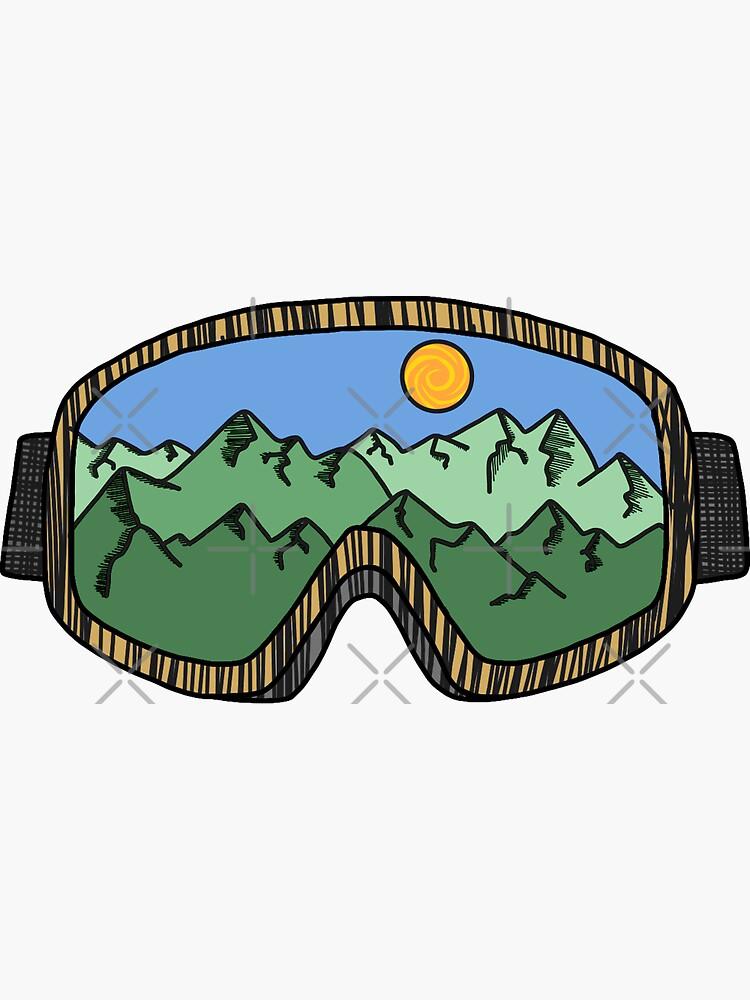 Ski Goggles Green by 3blondegirls