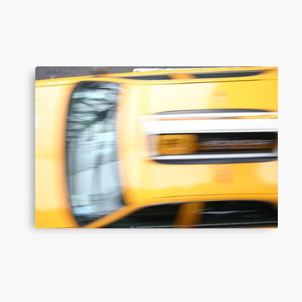 Cab at Speed Canvas Print