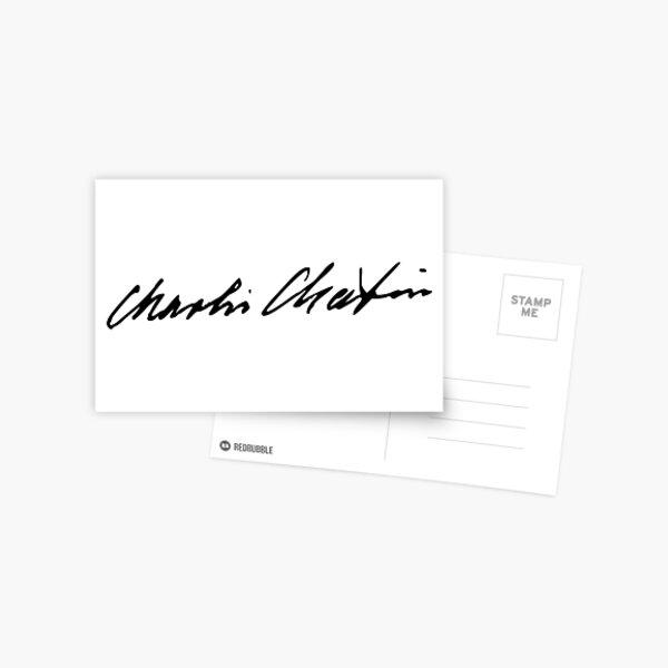 Signature of Charlie Chaplin Postcard
