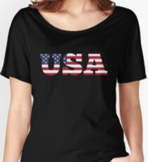 USA Women's Relaxed Fit T-Shirt