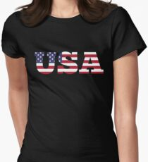 USA Women's Fitted T-Shirt