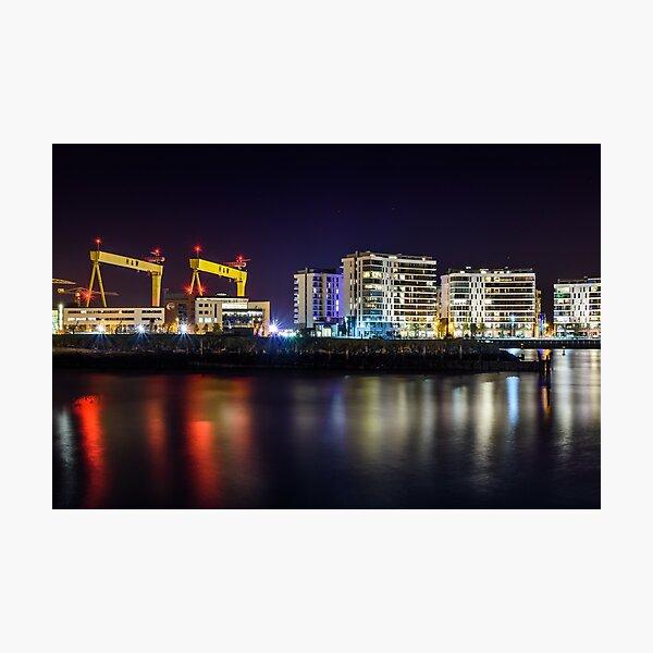Belfast Cranes Cityscape Titanic Quarter Northern Ireland Photographic Print