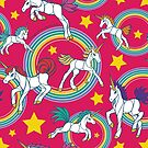 Unicorn Party Pattern Design by Mellie Test by mellierosetest