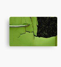 Retro 70s lime green...... Canvas Print