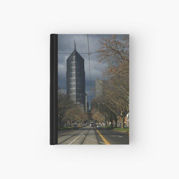 city winter. elizabeth st, melbourne Hardcover Journal