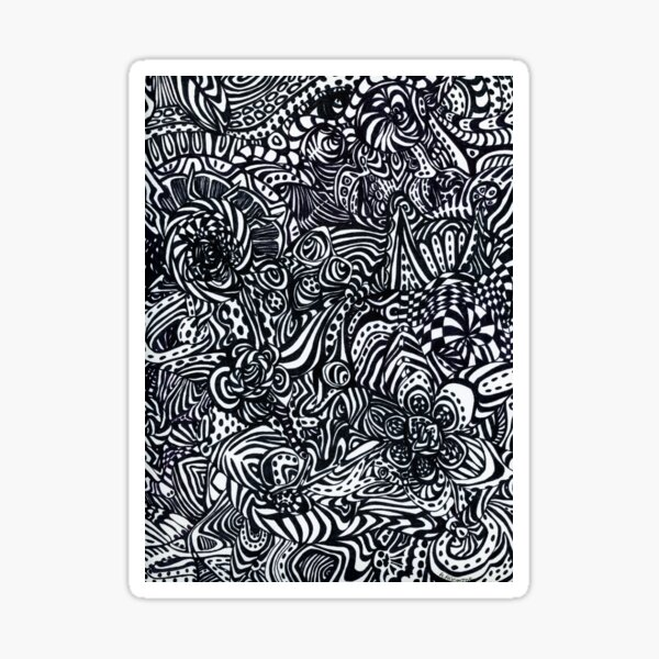 Abstract Flowers Sticker