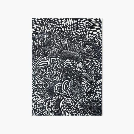 Abstract Sunflowers Art Board Print
