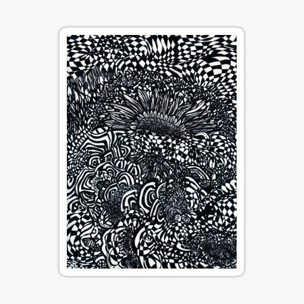 Abstract Sunflowers Sticker