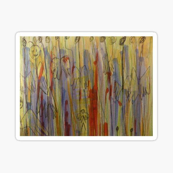 Anges ordinaires - peinture - aquarelle Sticker
