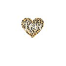 Cheetah Leopard Heart with Love Word Inside by ragerabbit