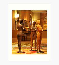 Waiting, Fairmont Hotel Lobby, Dallas Art Print
