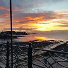 Winter Sunset Over Clevedon Design by MGMasonCreative