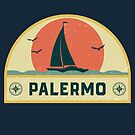 Vintage Palermo Italy Sailing Vacation Badge by dk80