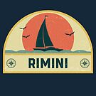 Vintage Rimini Italy Sailing Vacation Badge by dk80