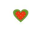 Patchwork Heart Orange and Green by ragerabbit